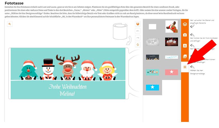 LOOXIS Online-Konfigurator Weihnachtstasse