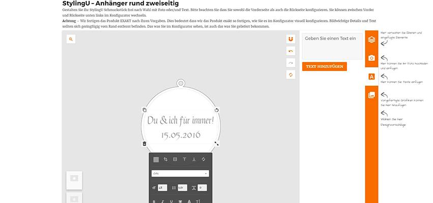 Online-Konfigurator StylingU Schmuck