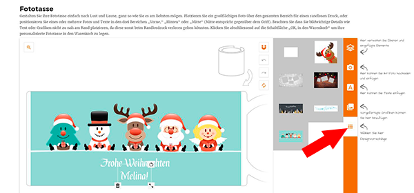 LOOXIS Weihnachts-Tasse im Online-Konfigurator